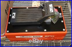SPX Power Team 10000 PSI Air Pneumatic Hydraulic Foot Pump 1 Gal Metal Reservoir