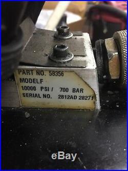 SPX Power Team Model F, Part# 58356 Air Hydraulic Pump