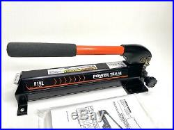 SPX Power Team P19L Single Acting Manual Hydraulic Cylinder Pump, 2-Speed, NEW