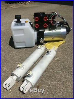 SPX Stone 12VDC Dual Function, Double Acting Hydraulic Power Unit with2 Cylinders
