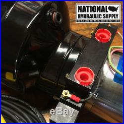 SPX Stone/Fenner 12VDC Double Acting Hydraulic Power Unit, Pump, Dump, 1-Gal, Lift