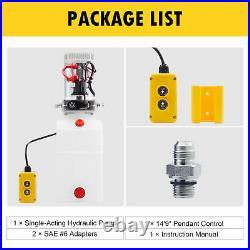 Single Acting 12V 6 Quart Hydraulic Pump Power Unit for Scissor Lift RVs More