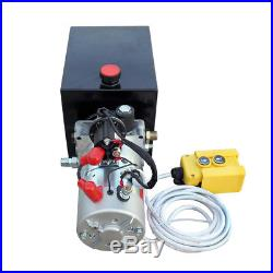 Single Acting 6 Quart Hydraulic Pump 12V Power Unit Dump Trailer Modified Car US