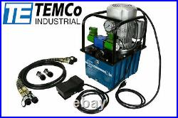 TEMCO HP0003 Elect. Hydraulic Pump Power Pack 2 Stage Double Acting 110v 10kpsi