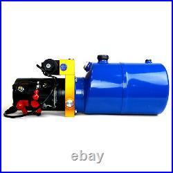 TEMCo 12V DC Hydraulic Power Unit Dump Trailer Pump 6 Qt PU / PD (Double Acting)