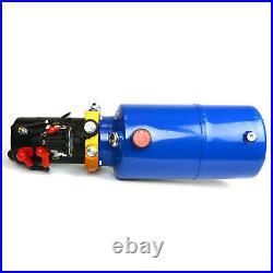 TEMCo 12V DC Hydraulic Power Unit Dump Trailer Pump 8 Qt PU / GD (Single Acting)