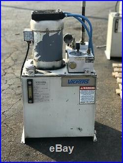 Vickers Hydraulic Power Unit 3 Hp